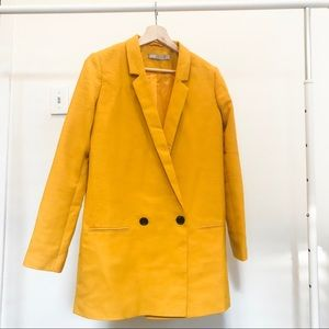 Asos Yellow Oversized Blazer
